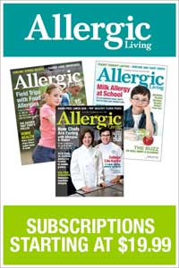 The complete allergy resource, Allergic Living magazine.