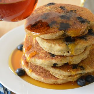 allergy-friendly blueberry corn cakes by Your Allergy Chefs